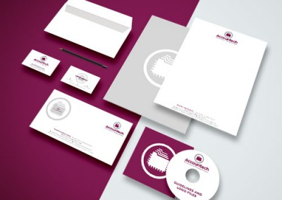 Identity, guidelines and stationery for Accountech Solutions
