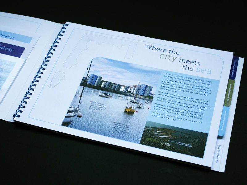 Design, artwork and photography for Corinthian Quay, Edinburgh